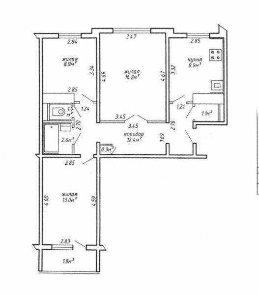 Продажа 3-комнатной квартиры, волгоград, 51-й гвардейской, 3.