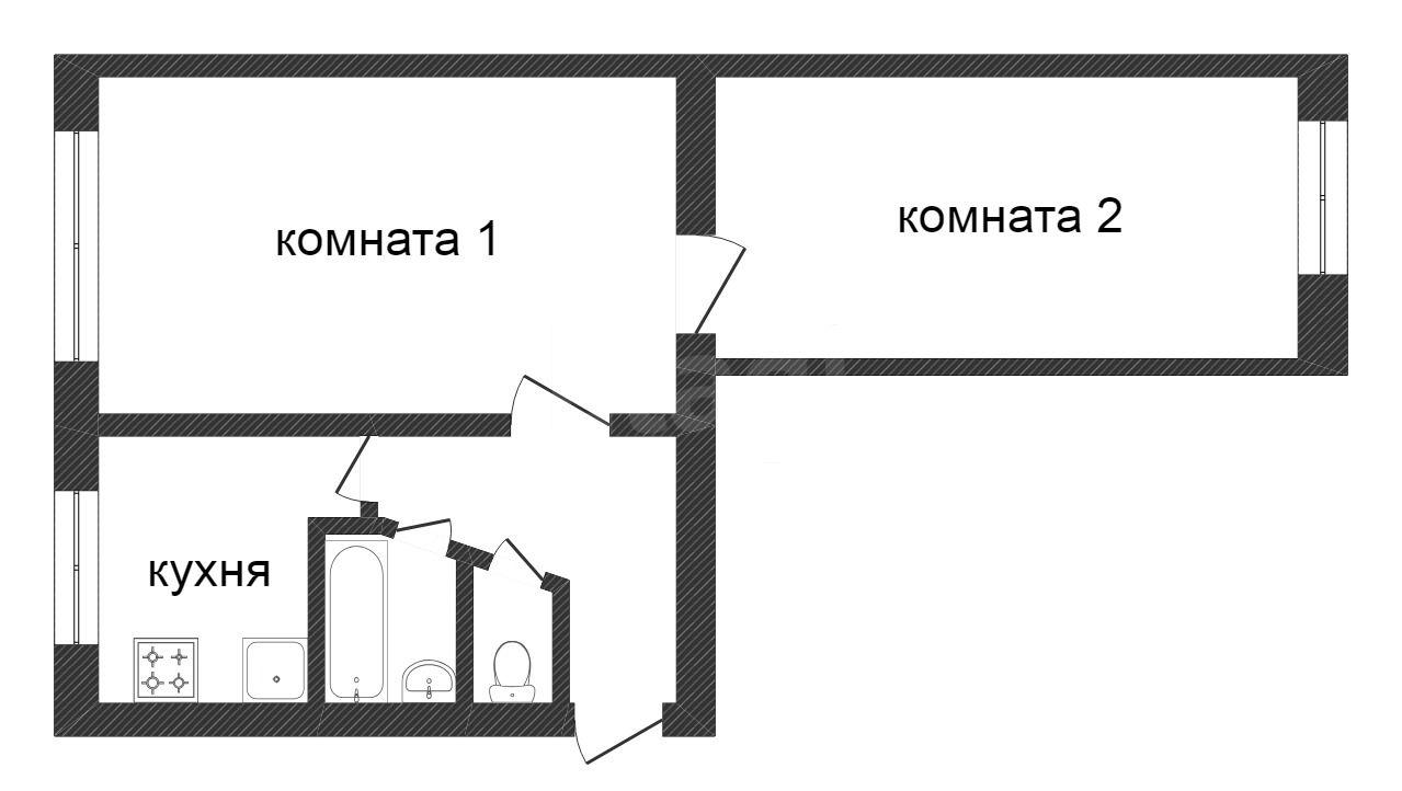 Продажа 2-комнатной квартиры, Златоуст, Дворцовая,  7а