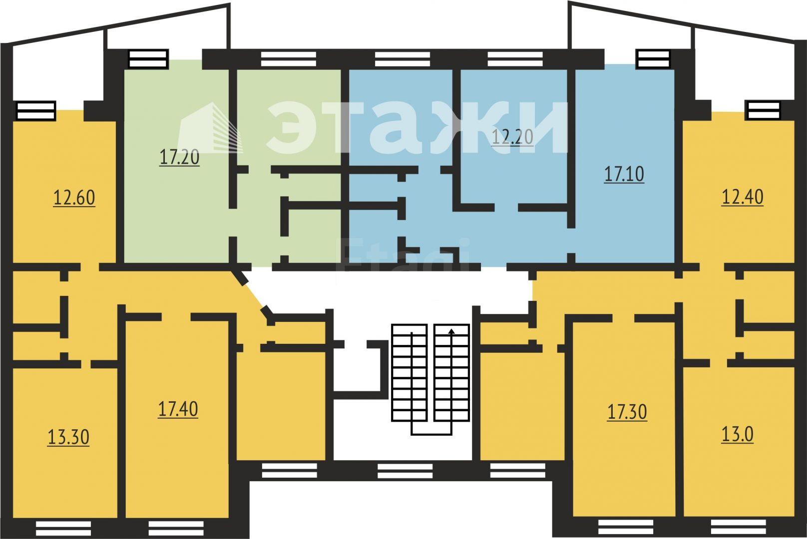 Квартира 65,50 м2 по улице домостроителей 12а в тюмени - про.