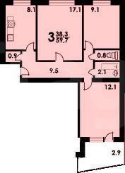 Продажа 3-комнатной квартиры, улан-удэ, ключевская, 4.