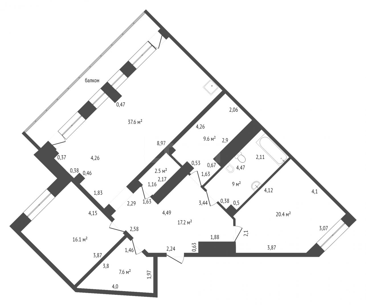 Продажа 4-комнатной квартиры, Красноярск, Молокова,  1 к 1