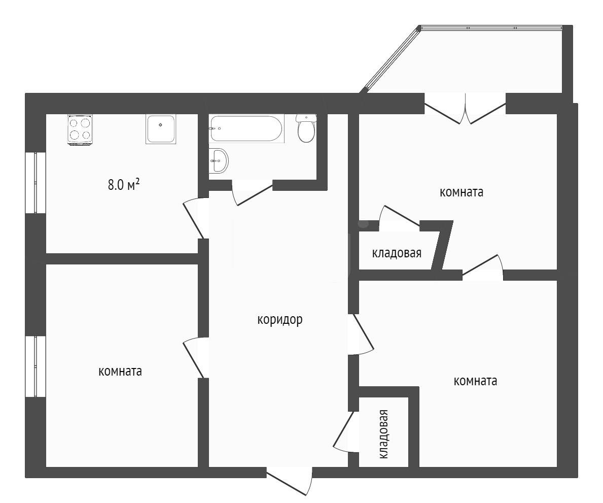 Продажа 3-комнатной квартиры, Златоуст, Тургенева,  6