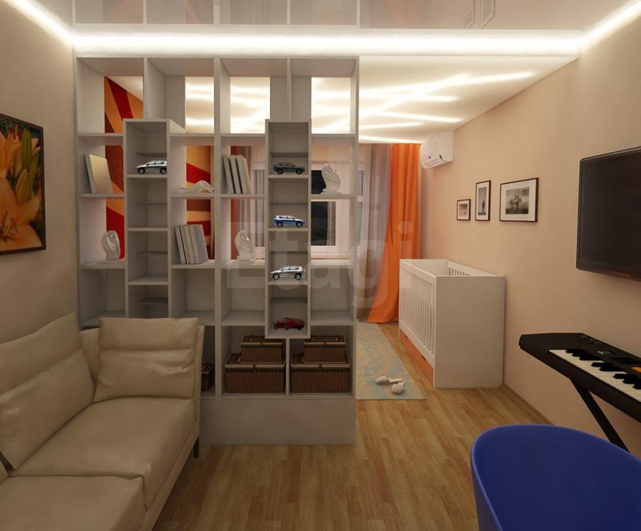 Дизайн комнаты 12 квм с зонированием