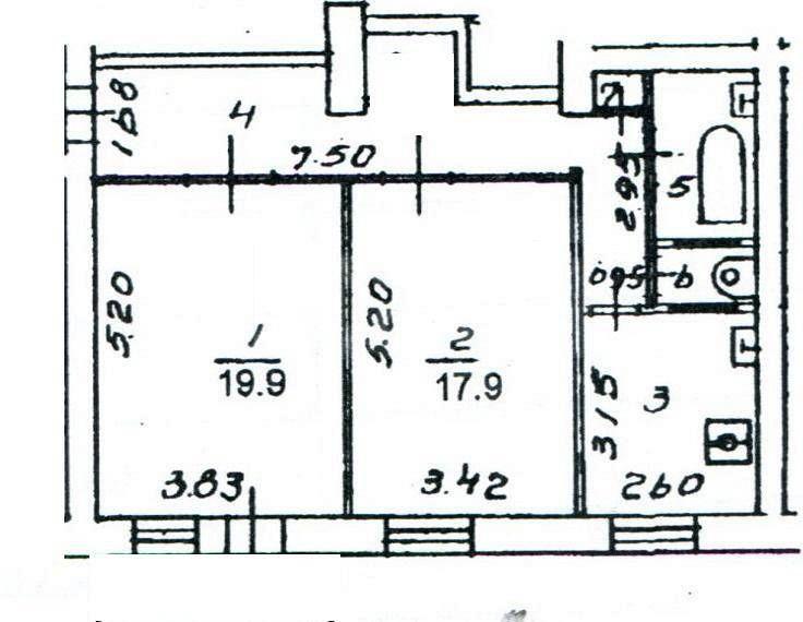 Продажа 2-комнатной квартиры, орел, комсомольская, 183.