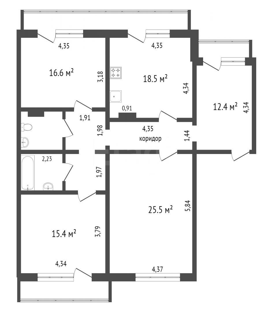 Продажа 3-комнатной квартиры, Красноярск, 78 Добровольческой бригады,  7