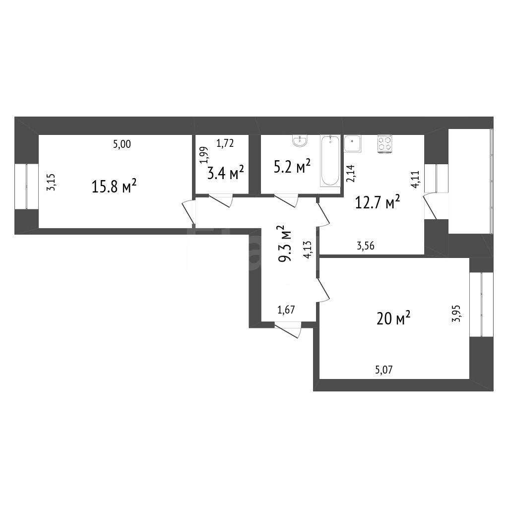 Продажа 2-комнатной квартиры, Красноярск, 9 Мая,  20а