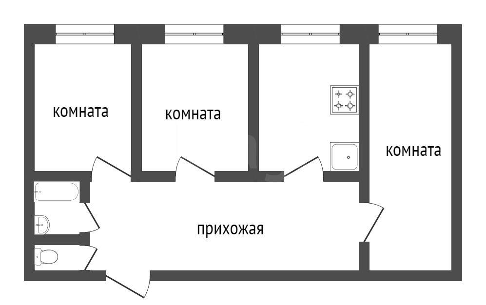 Продажа 3-комнатной квартиры, Красноярск, Металлургов пр-т,  13а