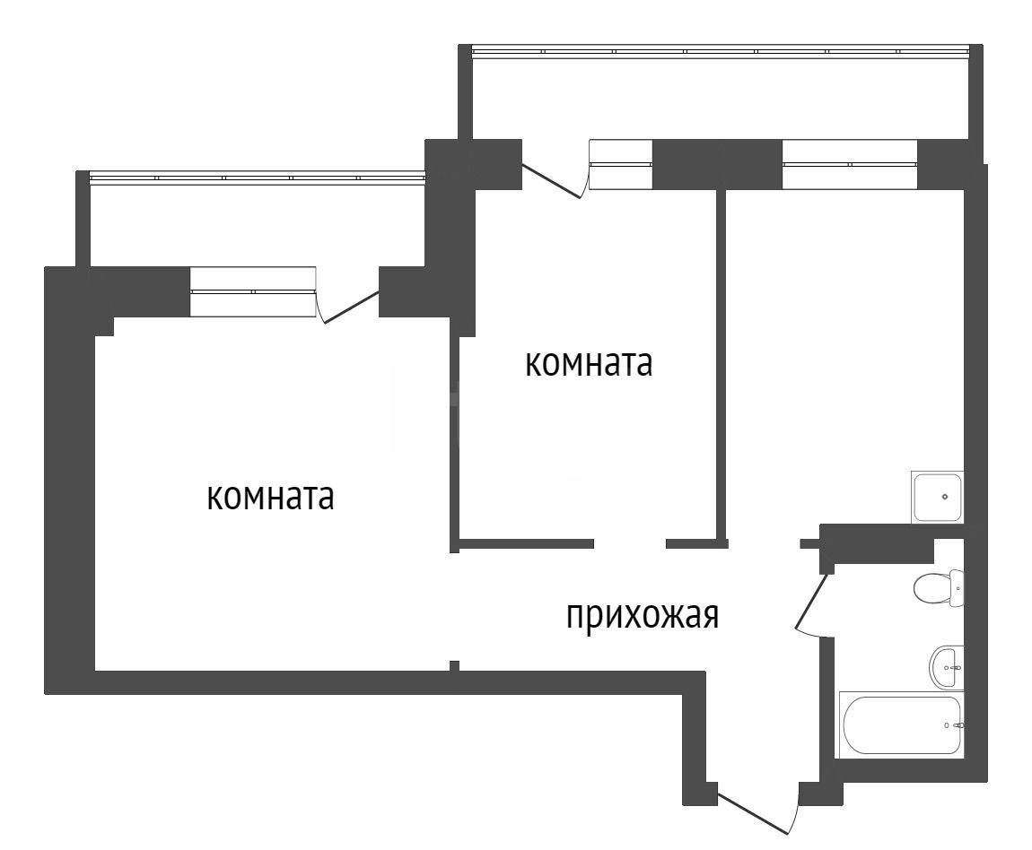 Продажа 2-комнатной новостройки, Красноярск, Калинина,  ЖК Мариинский дом 9.2 (Глобус-ЮГ)