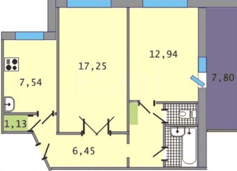 Куплю 2-комнатную квартиру Челябинск, лобкова, 2 - umpla #21.