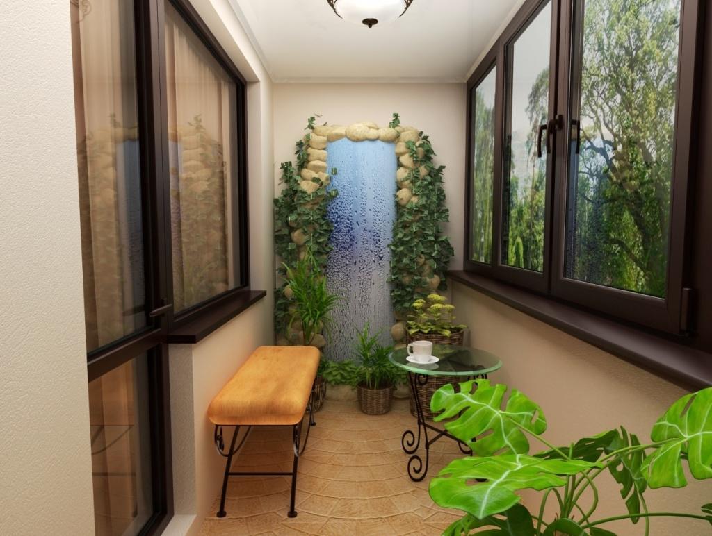 Красивый сад на балконе фото.