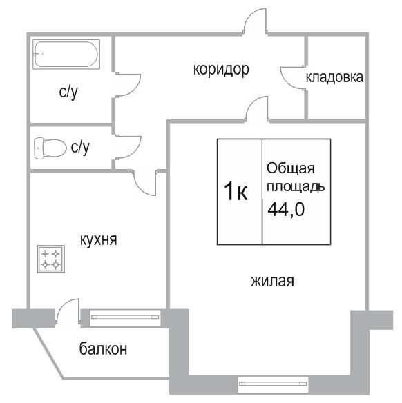 Объявление. г. Сургут, 1-комн.кв. 45кв.м, Мелик-Карамова, 43. Фото 1
