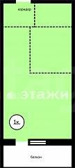 Объявление. г. Сургут, 1-комн.кв. 24кв.м, Крылова, 26. Фото 1