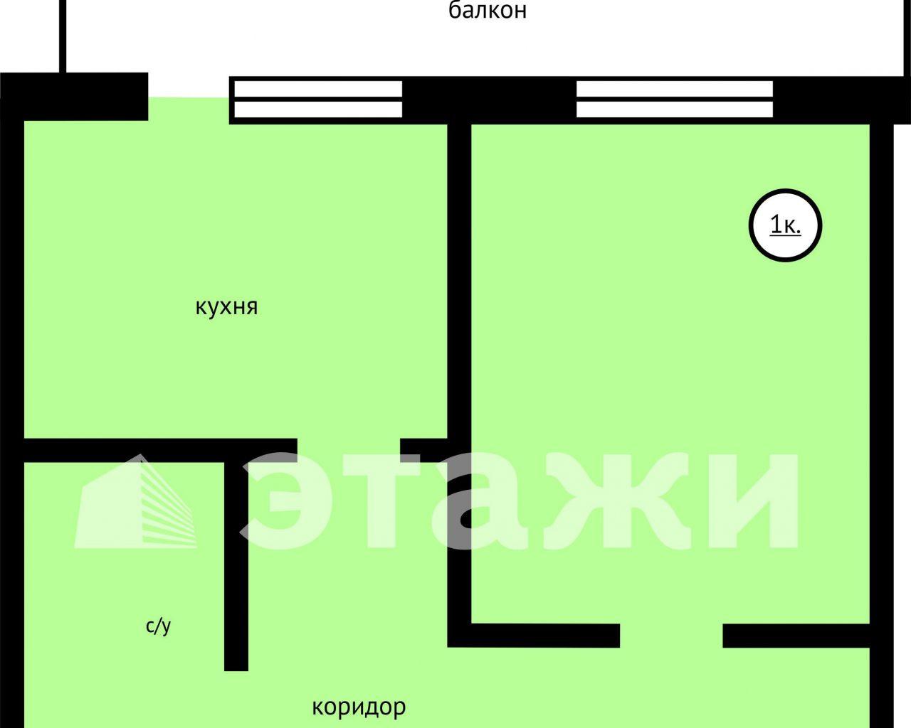 Объявление. г. Тюмень, Комната 12.9кв.м, Котовского, 13. Фото 1