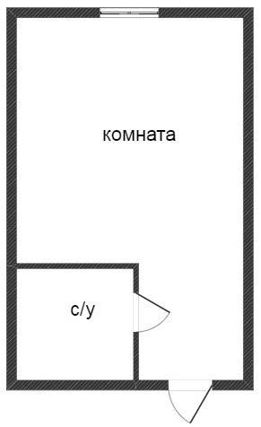 Объявление. г. Тюмень, 1-комн.кв. 17кв.м, 30 лет Победы, 92. Фото 2