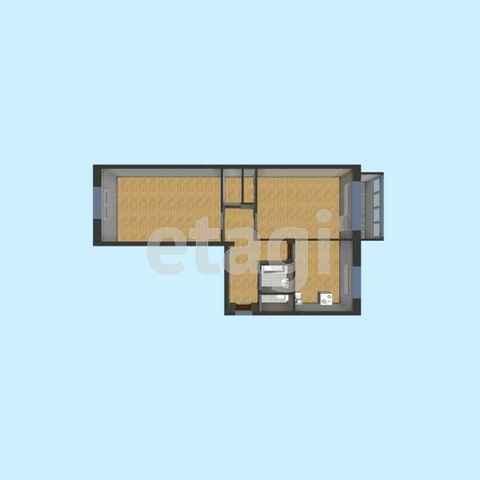 Продажа 2-комн. квартиры, г. Калуга, Турынинская  17