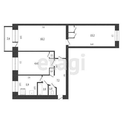 Продажа 3-комнатной квартиры, Комсомольск-на-Амуре, Красноармейская,  16 к 2