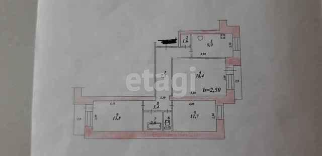 Продажа 3-комнатной квартиры, Комсомольск-на-Амуре, Первостроителей пр-т,  43