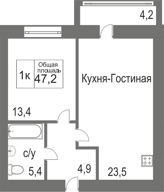 Объявление. г. Сургут, 1-комн.кв. 30.3кв.м, Игоря Киртбая. Фото 12