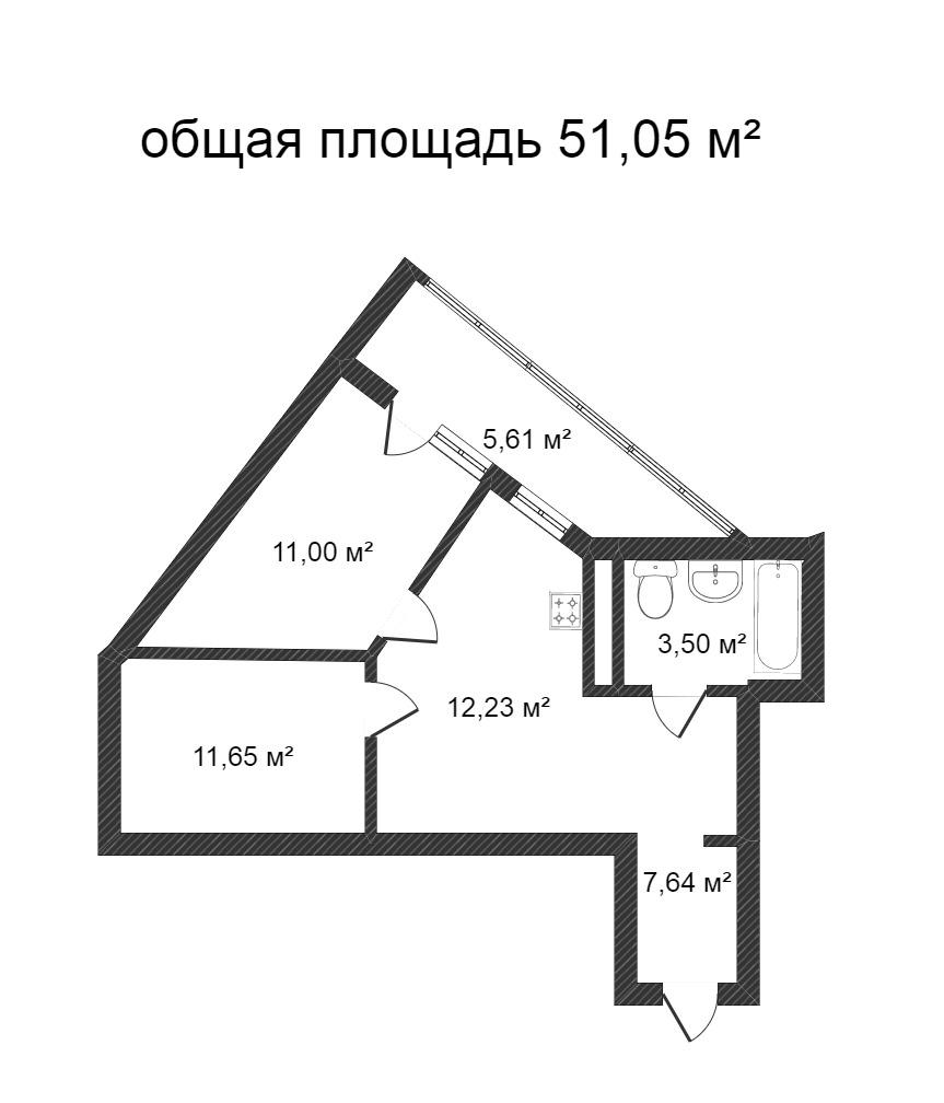 Объявление. г. Сургут, 2-комн.кв. 64.71кв.м, Ивана Захарова, 6. Фото 11