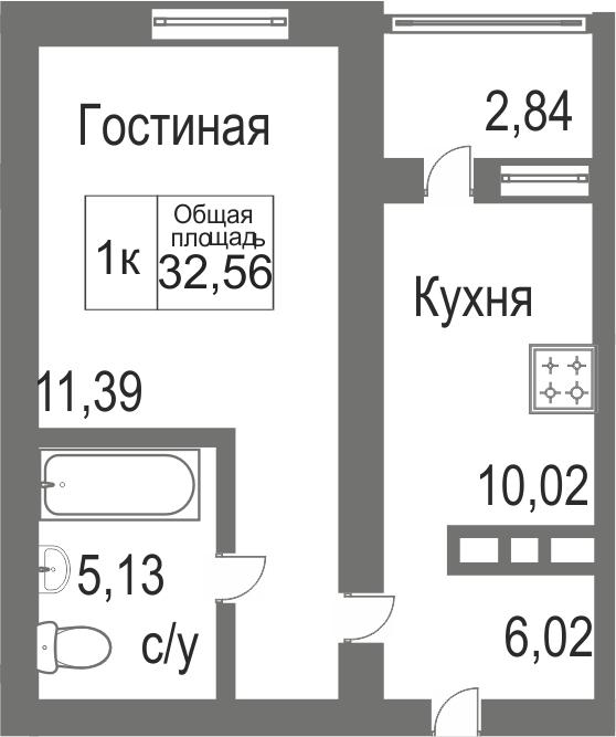 Объявление. г. Сургут, 1-комн.кв. 35.9кв.м, Югорский тракт, 4. Фото 12